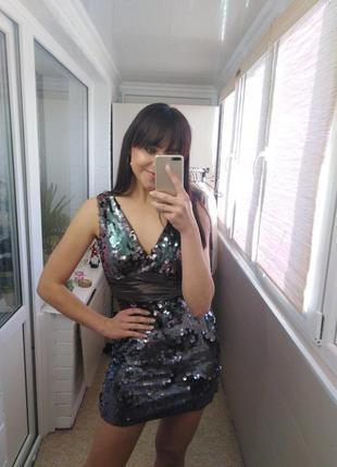 Сукня в паєтки, платье в пайетки