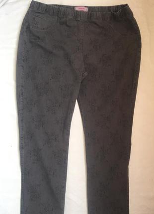 Плотные джинсы джеггинсы жен 5xl (58)