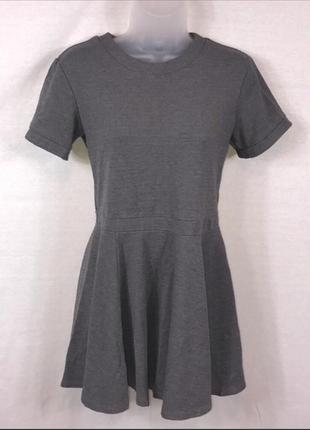 H&m серое мини платье из плотной ткани, р.s