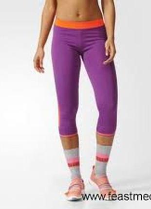 Легинсы adidas stella mccartney 3/4 sport tight fw16 kadın tayt xs s