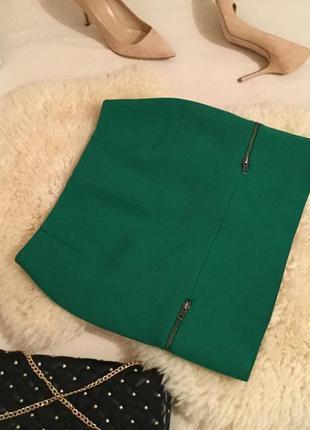 Крутая трендовая юбка с замочками по бокам - плотная и стильная, р.с ...👠🌹❤️