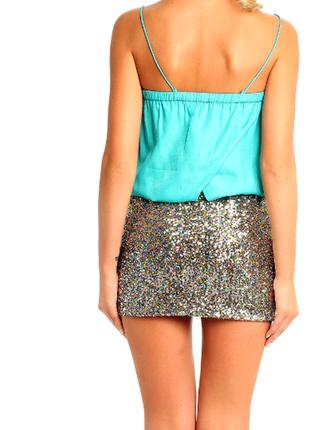 Срочная распродажа! оригинальное секси мини платье see u soon с цветными пайетками
