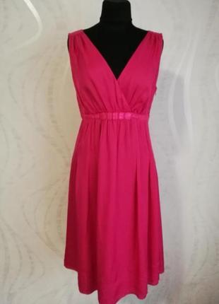 Брендовое шёлковое платье, срочного цвета фуксии, laurel, escada