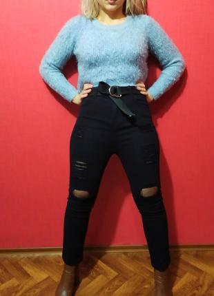 Шикарнейшие джинсы на талии ( с высокой посадкой )