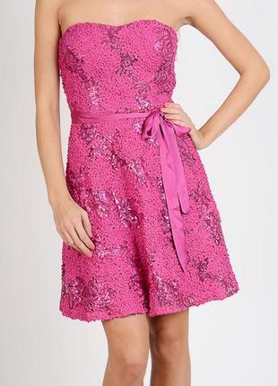 Коктейльное платье бюстье мини morgan фуксия 42 uk14 евроразмеры