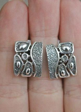 Серебряные серьги вечер