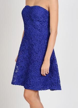 Изысканное коктейльное платье бюстье мини morgan гипюр 42 uk14 евроразмер
