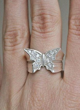 Серебряное кольцо полет р.17,5-18