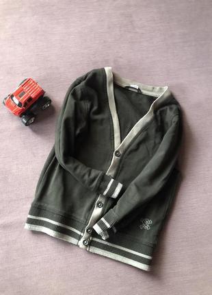 Стильный свитер на мальчика  , кардиган на пуговицах  4/6 годика george
