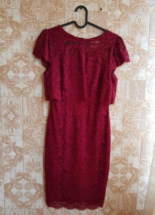 Кружевное платье next, s/m.