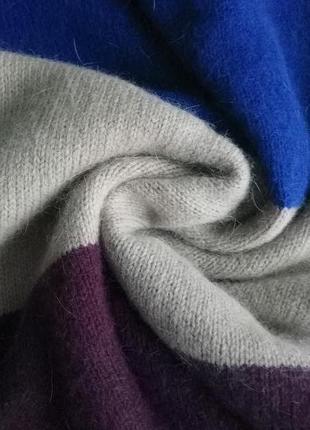 Шарф, хомут, снуд, труба, ангора+ шерсть, комбинированный цвет от h&m , one size