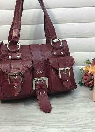 Кожаная сумка из натуральной кожи английского бренда tommy & kate