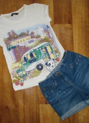 Летний комплект george: футболка и шорты, рост 116-122 см