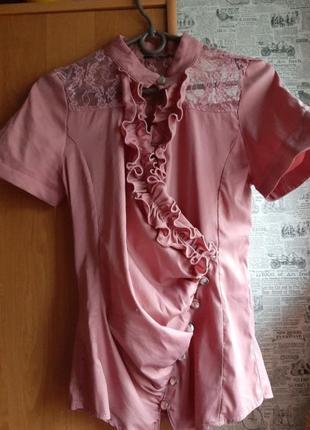 Блуза цвет темная пудра