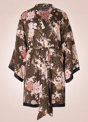 Шикарное кимоно(халат) цветочный принт m&s autograph