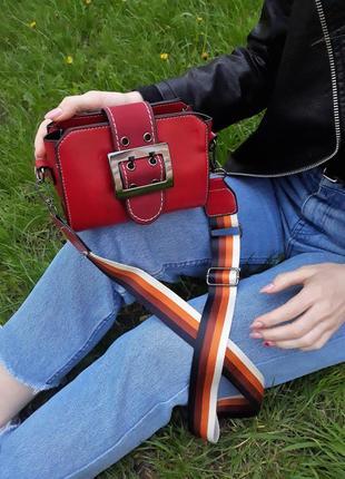 Красная маленькая сумочка ,  кросс-боди