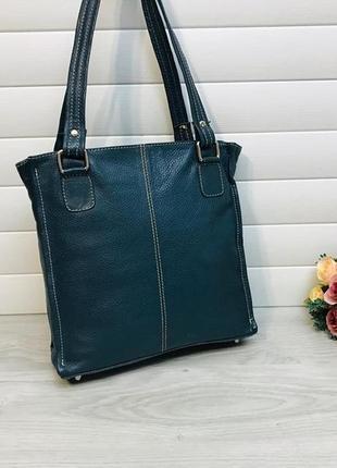 Кожаная сумка из натуральной кожи итальянского бренда