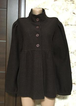Лёгкое шерстяное пальто,кардиган,жакет 100% шерсть!!