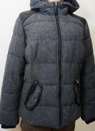 Куртка на вате, зимняя, шерстяная, теплая