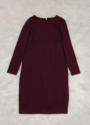 Стройнящее платье миди большого размера, батал