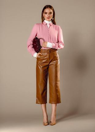 Кожаные брюки-кюлоты mohito p. 34