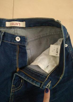 Базовые фирменные джинсы с высокой посадкой