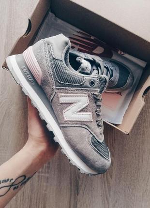 New balance 574 gray! шикарные женские кроссовки 😍 (весна/ лето/ осень)
