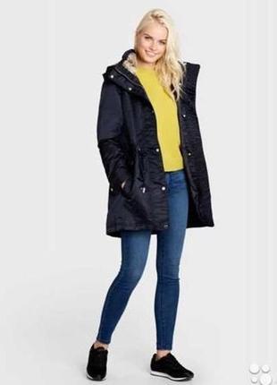 Распродажа - 20 %!! парка, куртка ostin, xs, черно-синяя