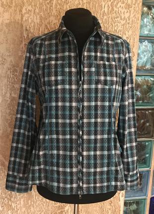 Рубашка в клетку на молнии cecil. размер xxl.