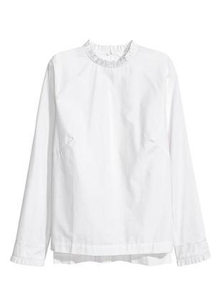 Базовая рубашка с воротником стойкой h&m