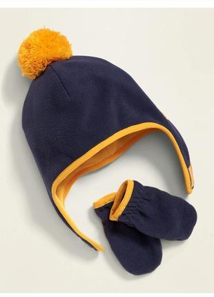 Оригінал!!old navy !флісова шапочка з рукавичками розмір l