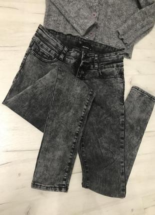 Серые чёрные джинсы варенки скинни skinny telly waijl