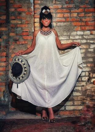 Платье батист коттон хлопок сарафан shoshanna длинное пляжное с вышивкой
