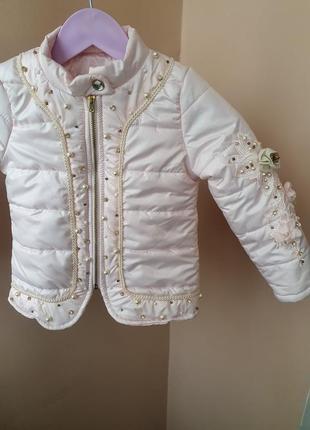 Шикарна тепла курточка для дівчинки на 4р.1 фото