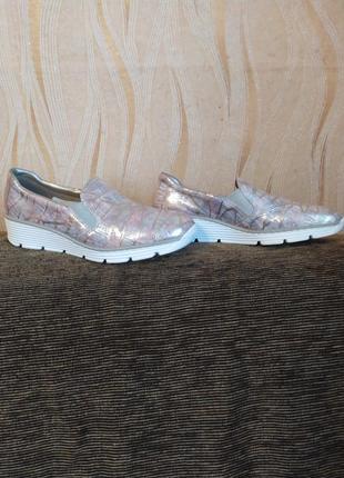 Кожаные слипоны rieker antistress туфли мокасины