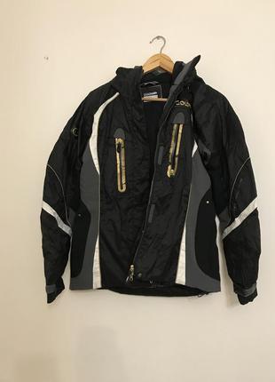 Лыжная куртка черная серая золотая