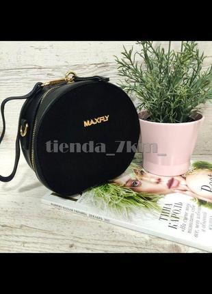 Круглая сумка через плечо / повседневный клатч m-5105 черный
