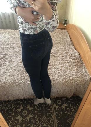 Лосины под джинс утеплённые