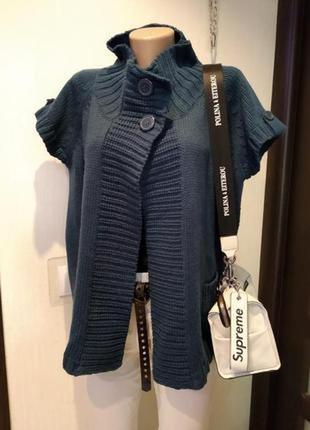 Шикарный стильный объемный кардиган свитер джемпер