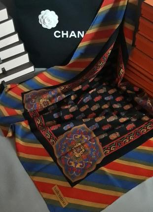 Яркий шелковый платок! valentino! оригинал!