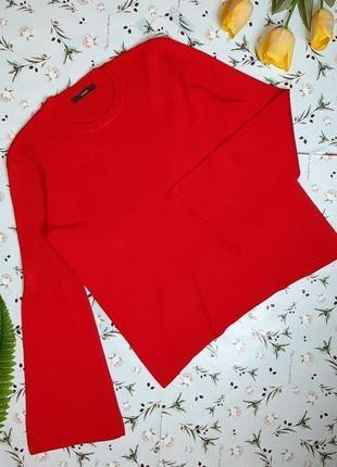 🌿1+1=3 фирменный красный мягкий свитер с объемными рукавами george, размер 52 - 54