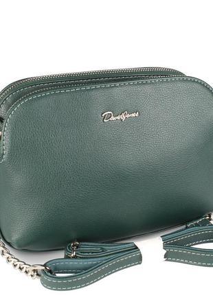 Стильный клатч david jones темно-зеленого цвета