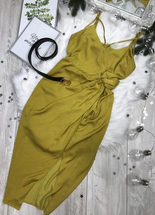 Платье с имитацией на запах