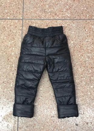 Штаны брюки на флисе плащевка зимние