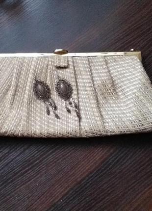 Класний клатч сережки в подарунок)))