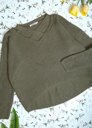 🌿1+1=3 шикарный плотный свободный свитер оверсайз хаки knitty nora, размер 46 - 48