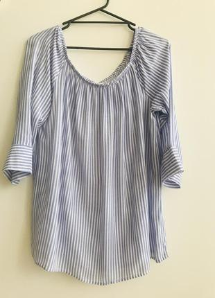 Блуза с открытыми плечиками infinity woman размер 42, 100% viscose