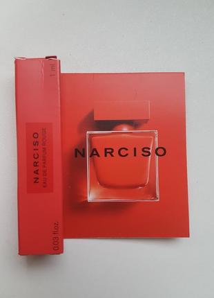 Парфюмированная вода narciso rodriguez narciso rouge пробник