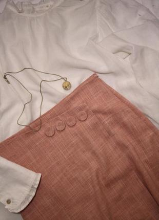 Розовая мини-юбка mango