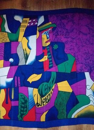 Picasso  яркий шелковый платок